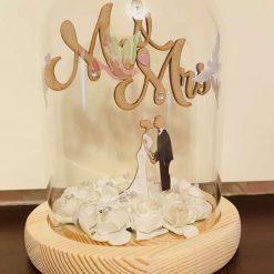 Mr & Mrs Wedding Dome Gift
