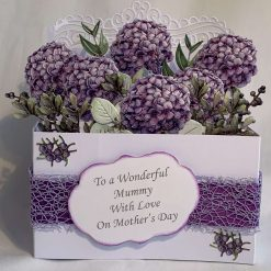 Boxed Handmade Card flowers in vases
