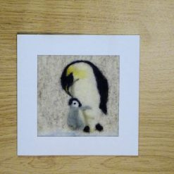 Hand crafted Original Designer Needle Felted Greetings card. 6×6 inches. Mother's Love. Free Post