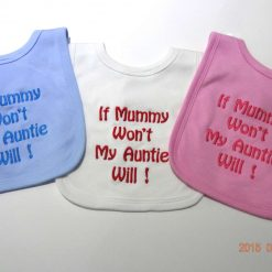 Personalised Baby Bib - Beautifully Embroidered Gift