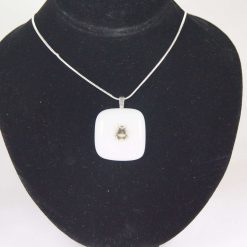 Bee, Glass pendant, boxed with chain. Free UK postage. #6063
