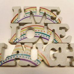 Live, Love, Laugh Concrete Ornament LGBT