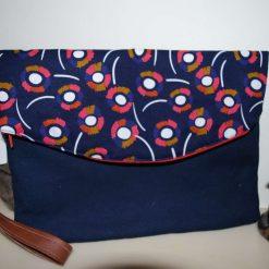 Heidi Wristlet Flap over Bag - 100% Cotton