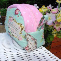 Handmade Make up Bag/Toiletry Bag - 100% Cotton