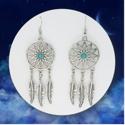 'Boho' Dream Catcher Necklace   Tibetan Silver Charm Birthday Christmas Mothers Mother's Day Valentine Anniversary Easter Bohemian Dreamcatcher Jewellery Gifts Gift Ideas