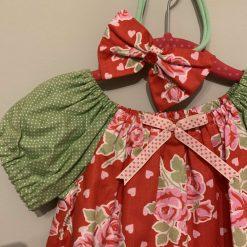 Handmade Dress-With Matching Headband. 12-18 months (only 1 left) 1