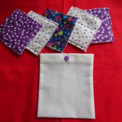 Bunting - 9 Flag Purple Floral Mix- over 2 metres long