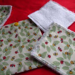 Eco/Reusable Make Up Remover Pads Ladybird/Ladybug