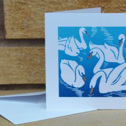 Eyrar - Swans - Greetings Card (Mother's Day, Birthdays, all occasions) swan by Sarah's Printing