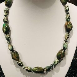 Necklace with earthy tones