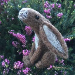 Needle Felting Kit - Brown Moon Gazing  Hare