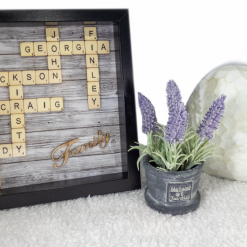 Scrabble - Family Grey Oak Frame