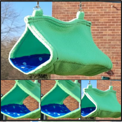 Hanging tent for rodent family