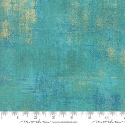 Moda - Grunge Metallic by Basic Grey -100% Cotton - PEACOCK Fat Quarter - Metre