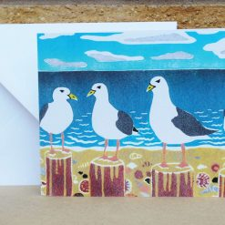 Gulls - Seagulls - Greetings Card (Mother's Day, Birthdays, all occasions) seagull seaside by Sarah's Printing
