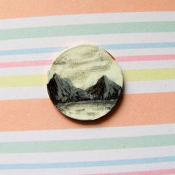 Mountains By The Lake - pocket money art