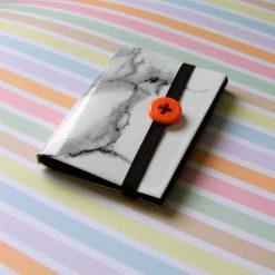 Mini Black Paper Sketch Pad (A8) - orange button