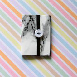 Mini Black Paper Sketch Pad (A8) - white button