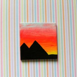 Pyramids - Miniature Art Magnet