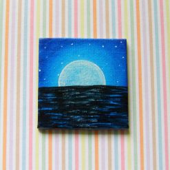 Night At Sea - Miniature Art Magnet