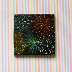 Fireworks - Miniature Art Magnet
