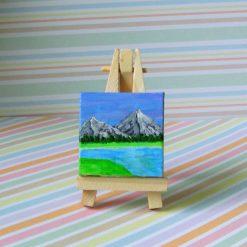 Mountain View - mini painting