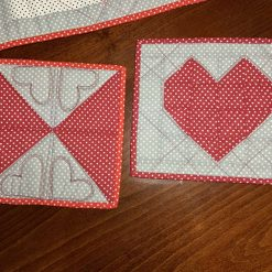 """""""Patchwork set of two mug rug for Valentines's Day """""""