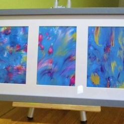 """""""A TRIO OF PAINTINGS"""" in frame"""