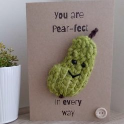 Knitted pear card