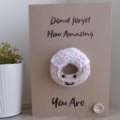 Knitted donut card
