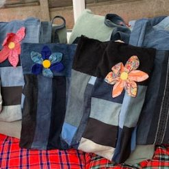 Denim flower bag