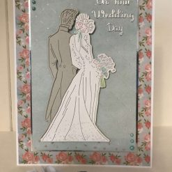 Wedding Bride and Groom handmade card