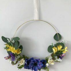 Gold Hoop Spring Wreath