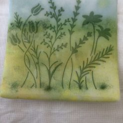 Vintage Car, Scenic, Hand-crafted, Fused Glass 14.5cm Square Plate/Dish 2