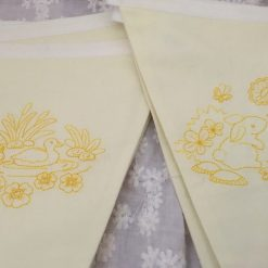 Cotton Fabric Easter Bunting