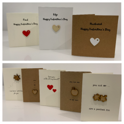 Cute Personalised Valentine's Card with Embellishment