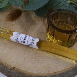 Handmade Bespoke Glass Tube Wedding Favours with Personalised Sticker – Meant To Bee