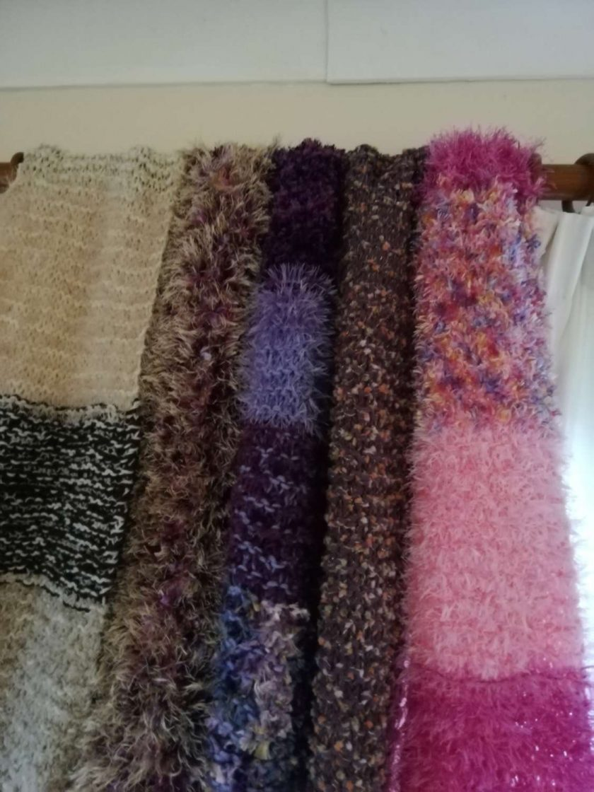 Multi coloured very warm and long adult scarves. 1
