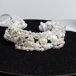 Communion/wedding/bridal/bridesmaids/flowergirl hairbun wrap