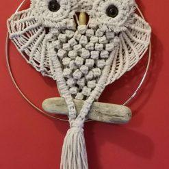 Macrame Owl dream catcher, dream catcher, macrame wall hanging, large Owl dream catcher. with free UK postage.