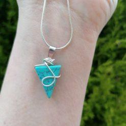 Turquoise Triangle Gemstone Pendant