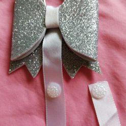 Glitter Hair Bow Clip