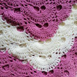 Crochet baby shawl