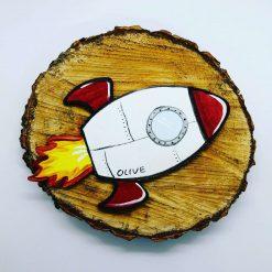 Personalised Rocket Magnet