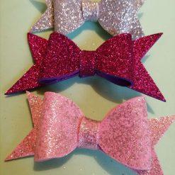 3 sparkly hair clips