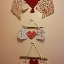 Large or Small Macrame wall hanging, Heavenly heart wall décor nursery, wall art, Large or Small macrame wall tapestry.