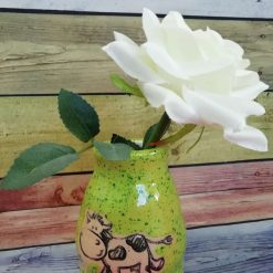 Ceramic Bud Vase, Cow design