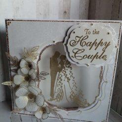 Luxury Handmade Wedding Card - Bride & Groom