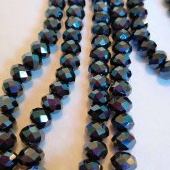 Glass faceted rondelles