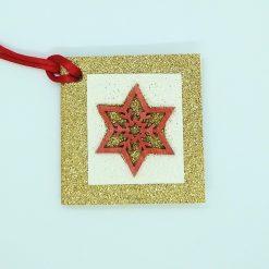 Wooden Snowflake 10 pack